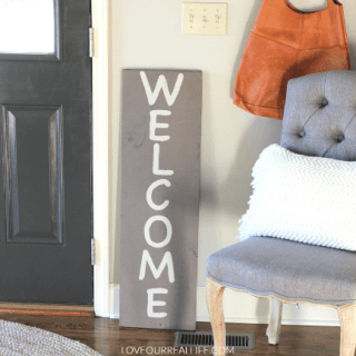 Make Your Porch Pretty:  Two Wood Signs in One!