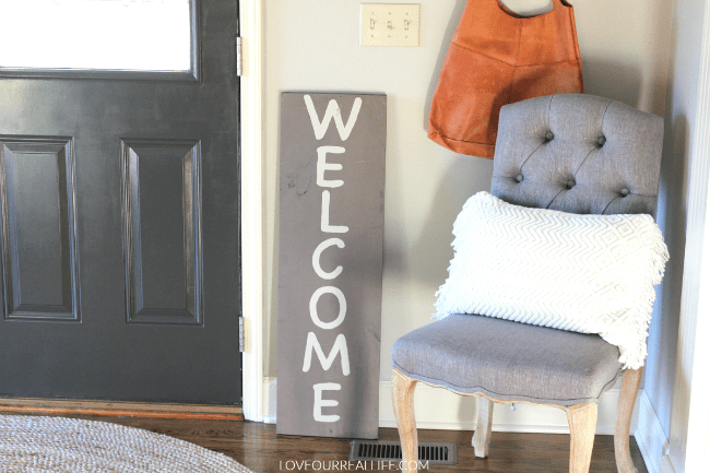 Wood signs, welcome wood sign, Joy wood sign, chalk paint on wood sign