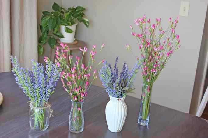 Faux flowers, Artificial flowers, faux flowers in decor