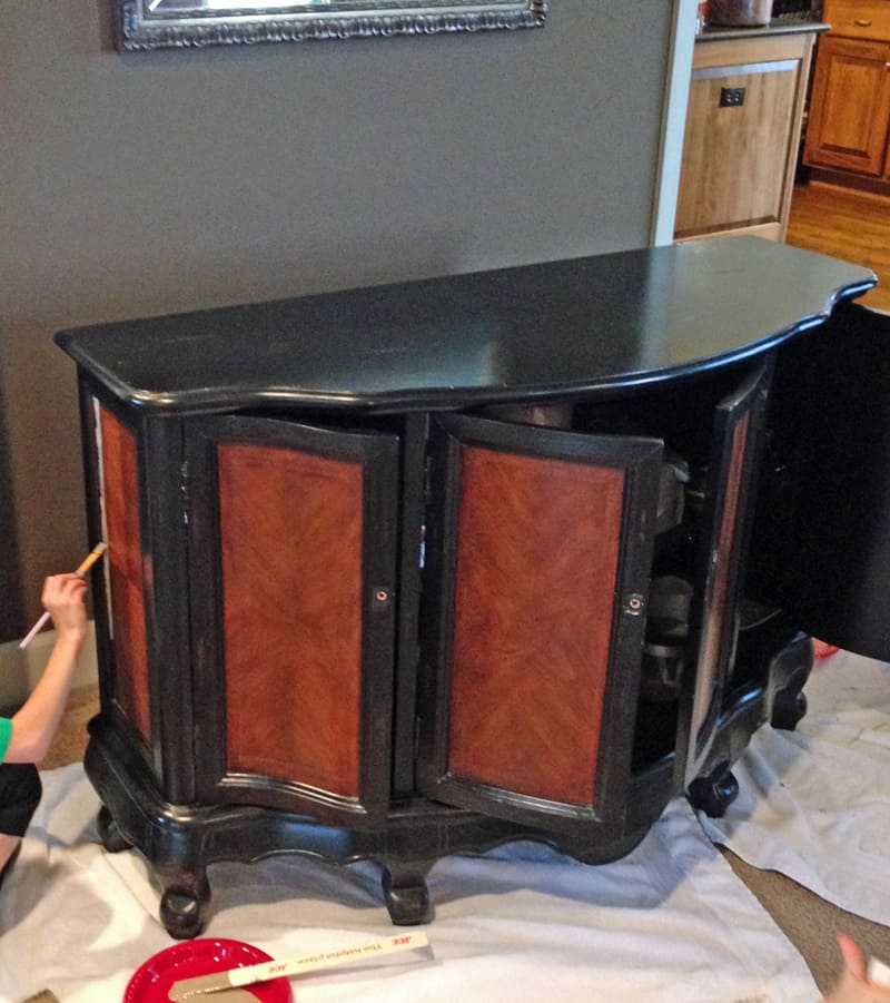 Furniture before and after, painting cabinet with chalk paint, white and coco chalk paint