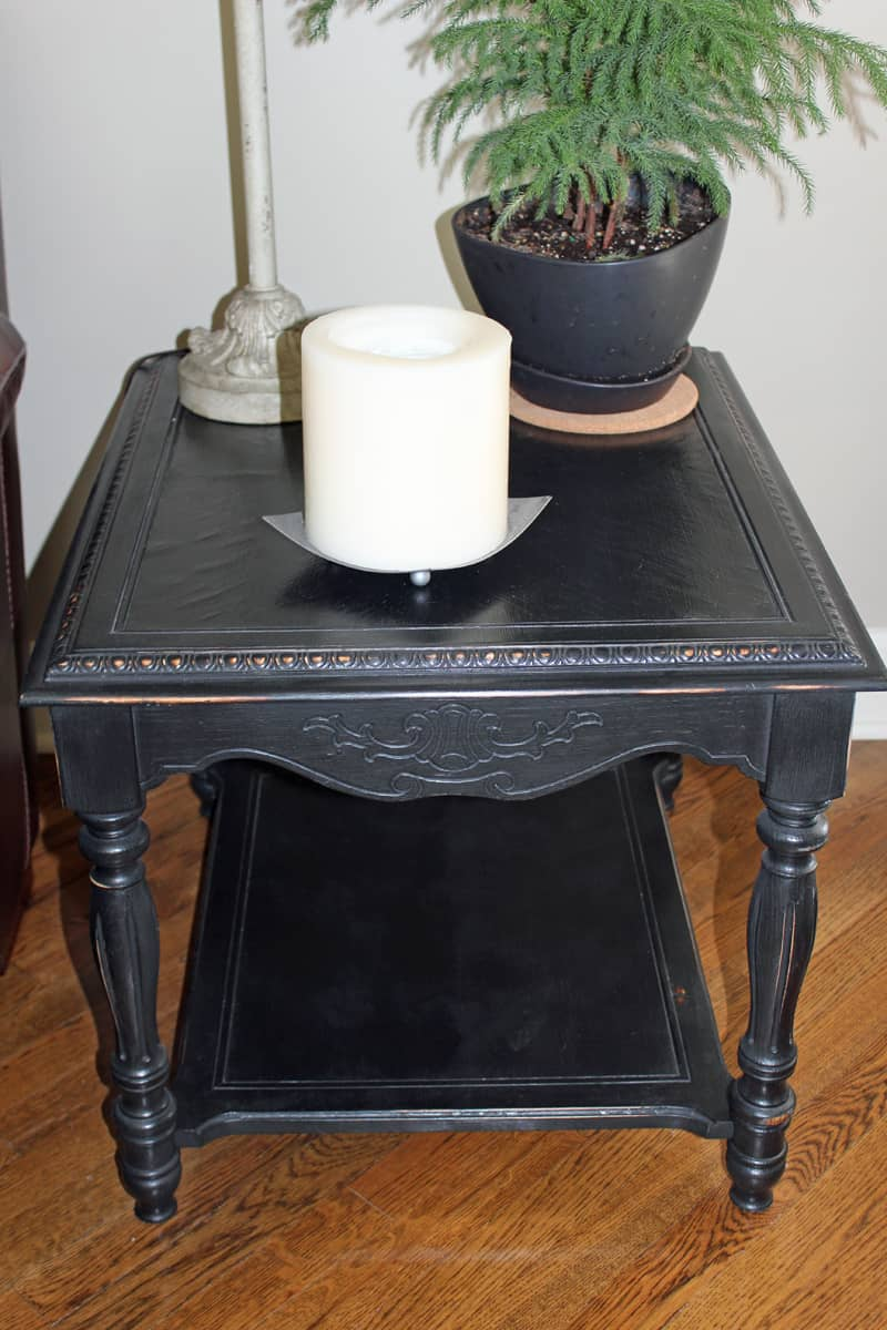 Furniture before and after, Black chalk paint, Paint end tables