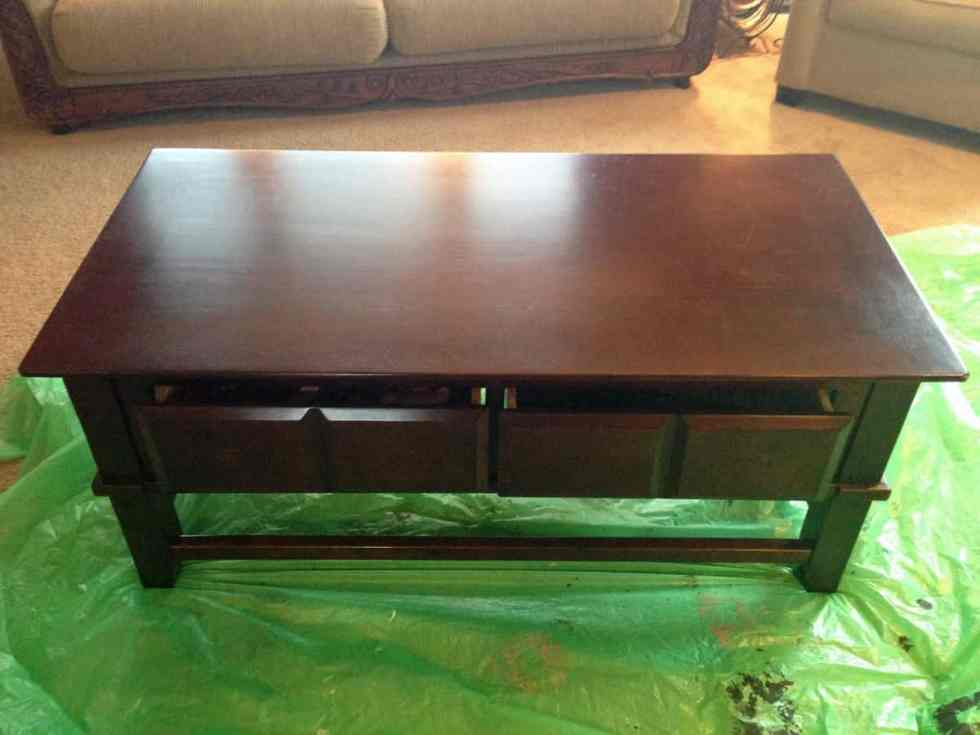 Before and after furniture projects, chalk paint, coffee table makeover
