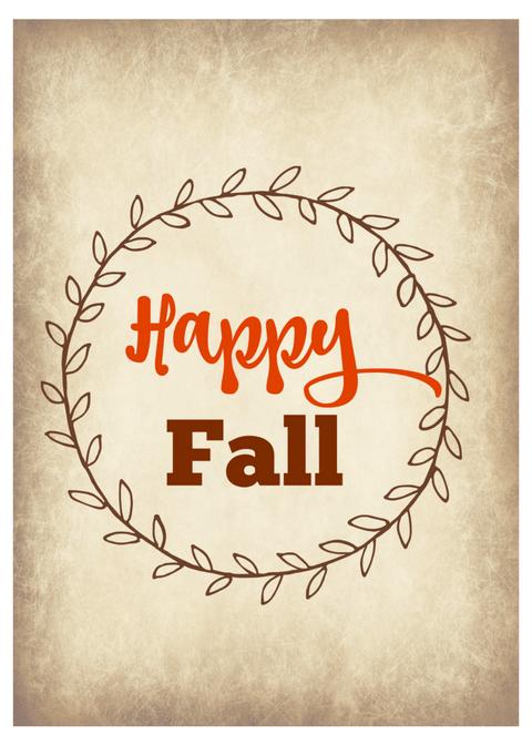 Happy Fall 5x7 printable, fall printable, Happy Fall sign, Fall decor