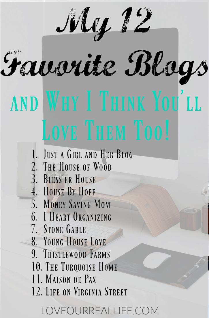 Favorite blogs, best decor blogs, best DIY blogs, DIY blogs, decor Blogs