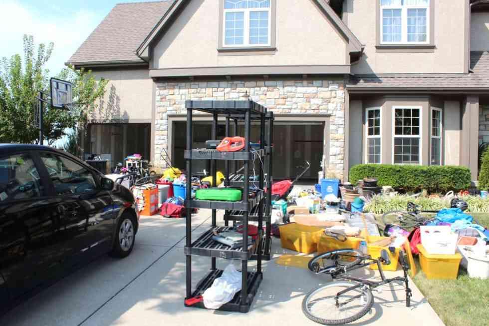 garage organization, preparing a garage for winter, cleaning out a garage, painting inside a garage