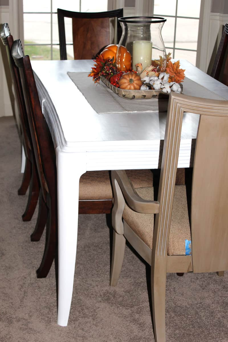 dining table transformation, painting a dining table with chalk paint, chalk paint to makeover a dining table