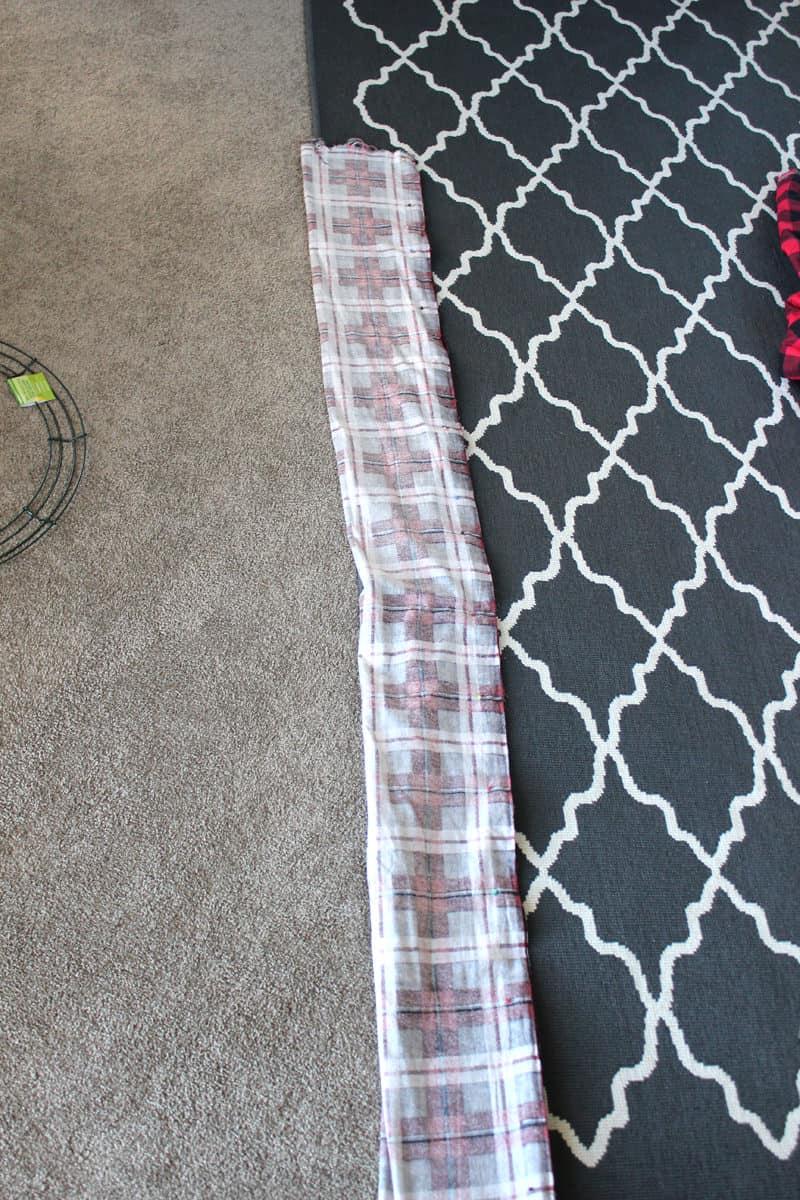 infinity scarf folded like a hot dog, infinity scarf