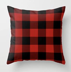 buffalo plaid pillow cover, buffalo plaid