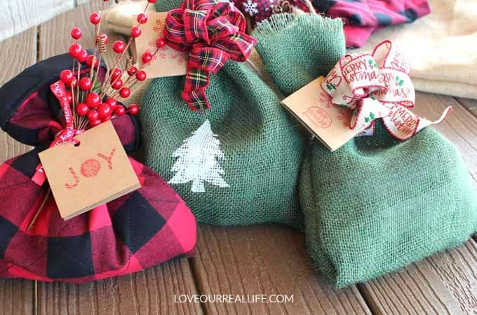 Reusable Fabric Gift Sacks for all Occasions! Tutorial provided!