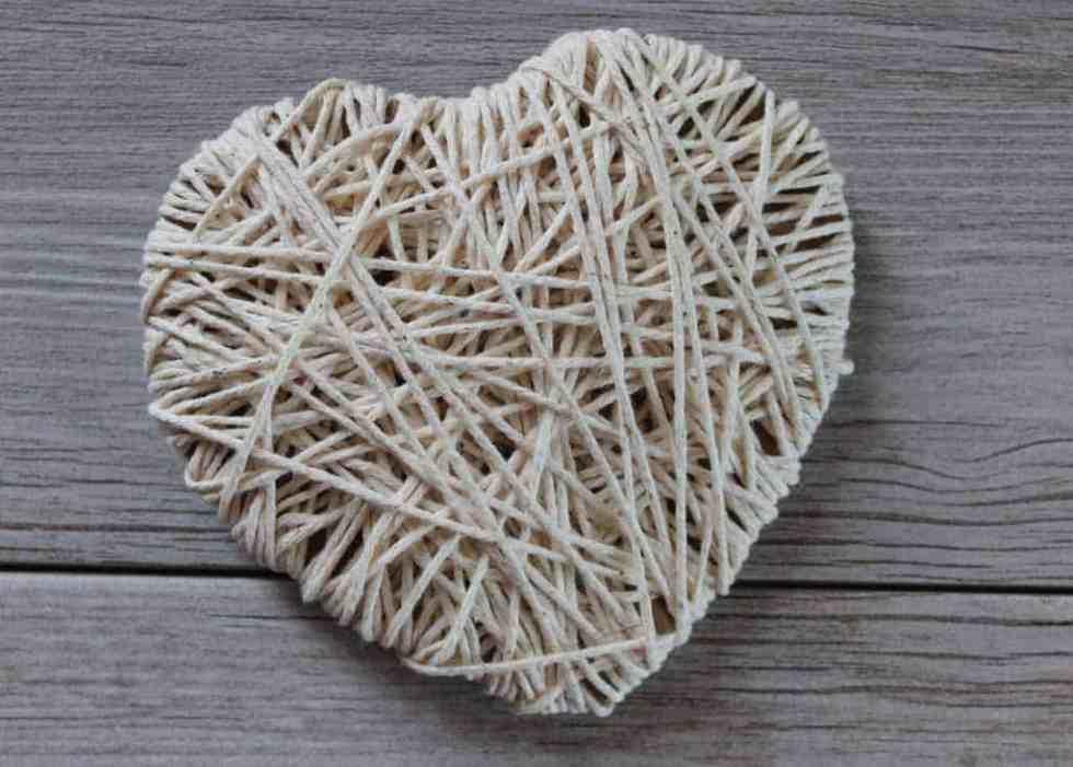 String Heart for Valentine's Banner
