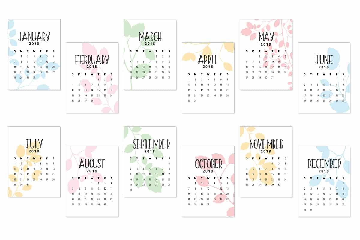 Calendar Journal Cards