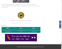 Screen shot of web page showing ad placement