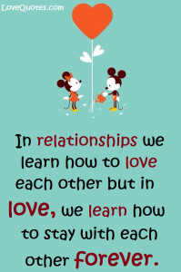 We Learn How To Love each Other