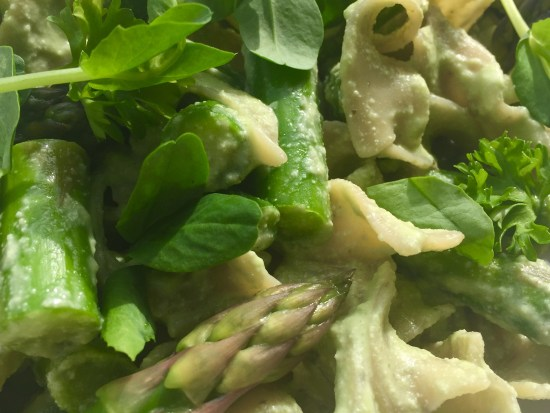 Cashew Cream Spring Vegetable Pasta