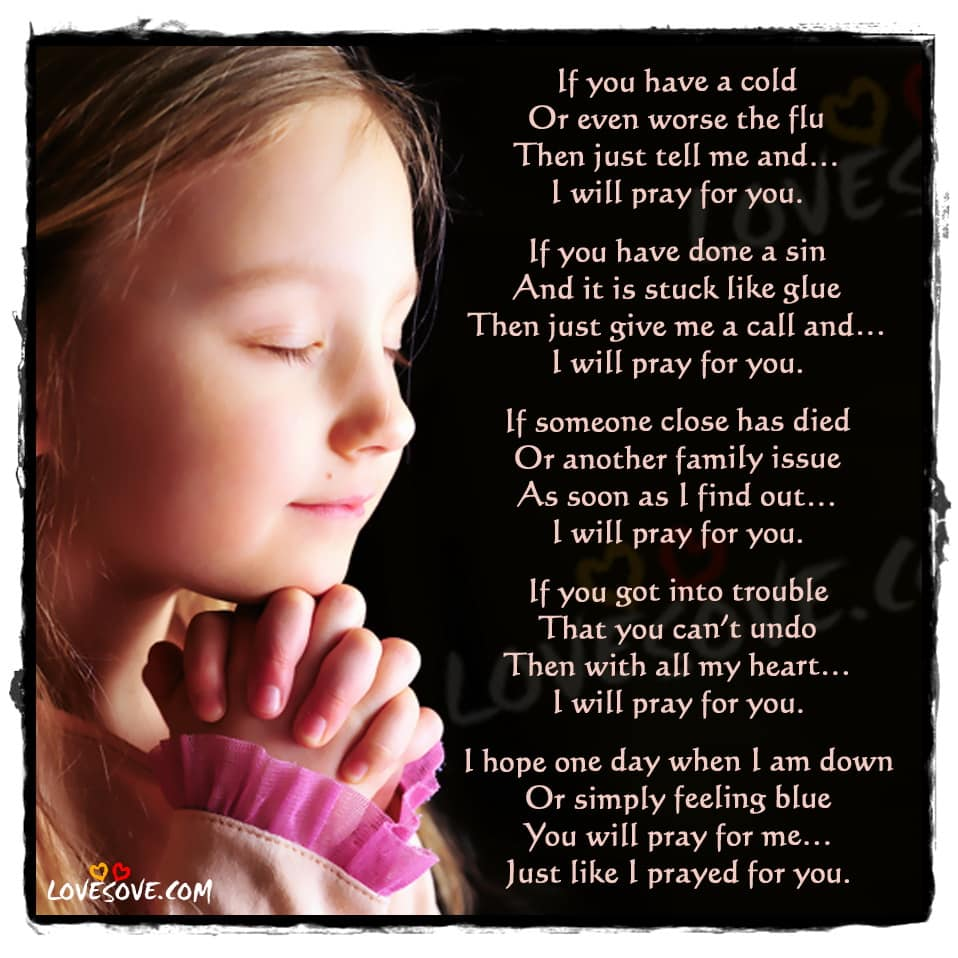 I Will Pray For You Poem Wallpapers