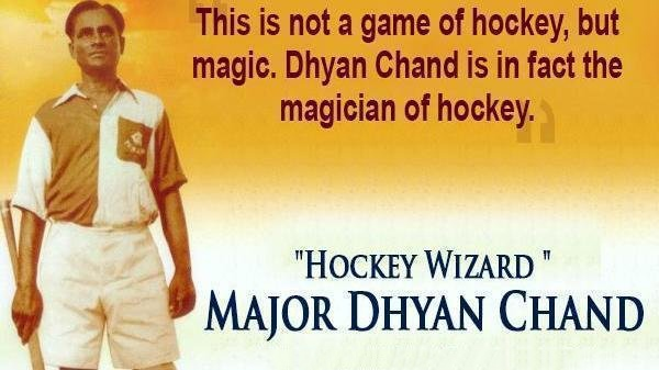 Celebrating national sports day with the wizard of hockey, Images for national sports day Wishes, Images for national sports day, On National Sports Day