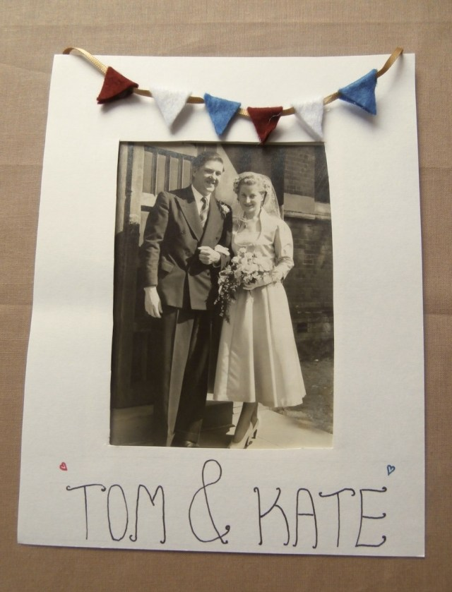 Home made vintage wedding invitation / stationery