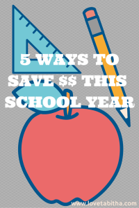 5 ways to save money this school year