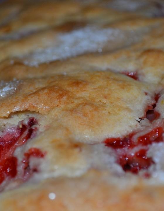 Strawberry or Blueberry Lemon Breakfast Cake Recipe