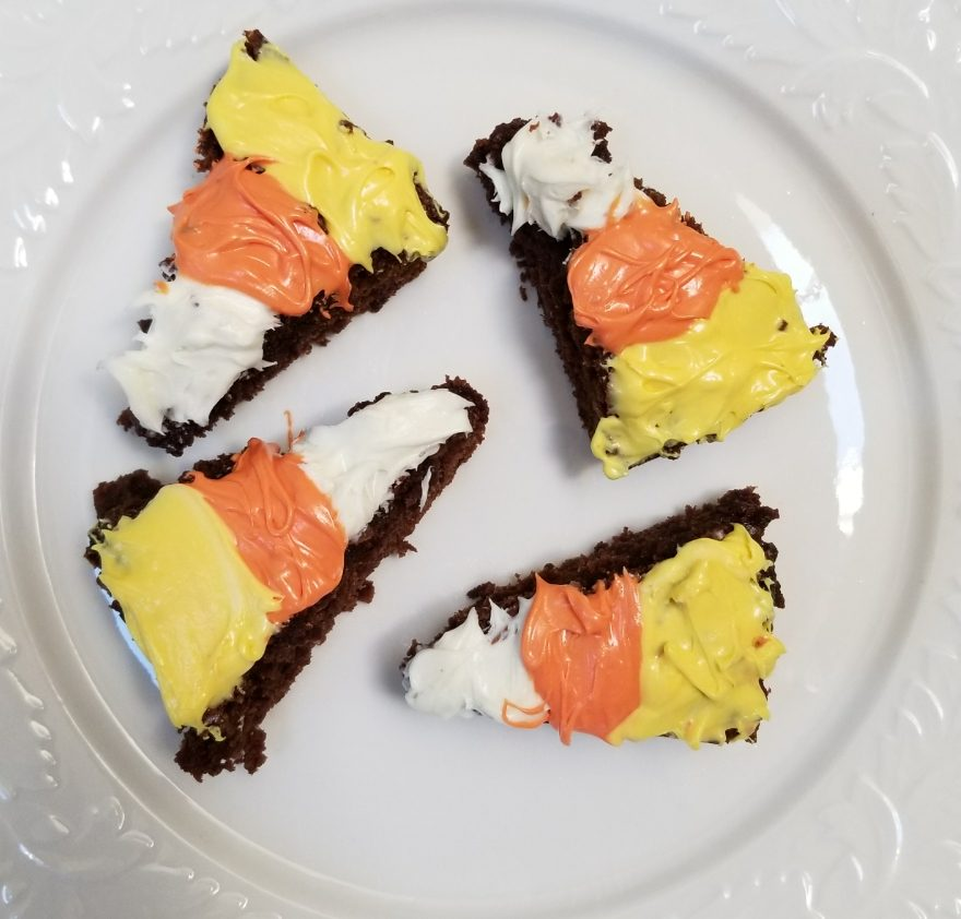 Candy Corn Brownies – Halloween Treats