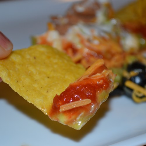This 7 layer bean dip recipe is a crowd pleaser!