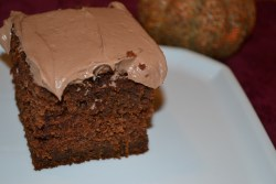 This Pumpkin Choctaw Cake is so delicious and easy to make. A mix of pumpkin bread and chocolate cake!