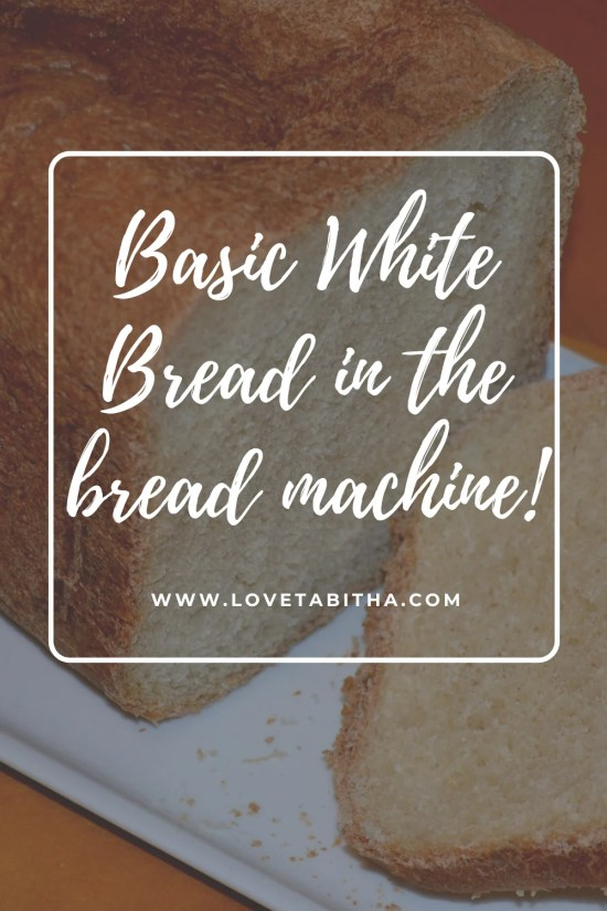Recipe for basic white bread in a bread machine! Taste great and very easy, only 5 minutes of your time. Doesn't require bread flour, you just use all-purpose flour.