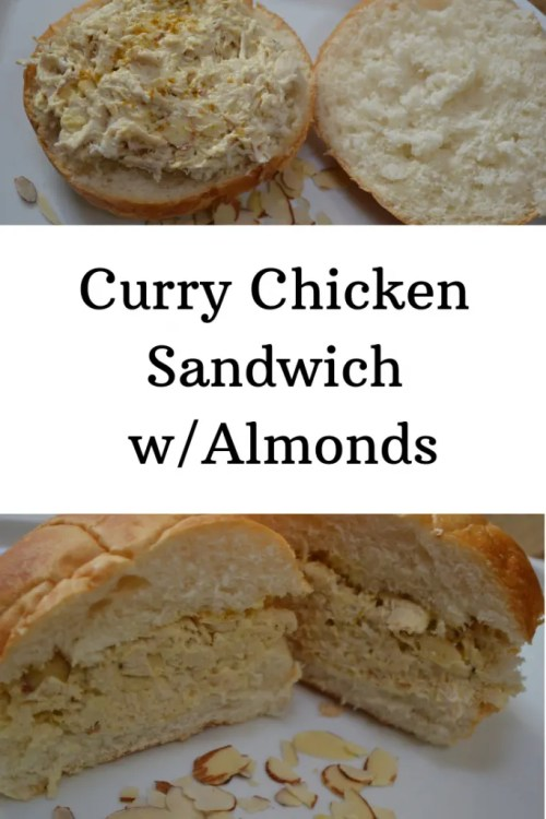 Recipe for Curry Chicken Sandwich w/Almonds