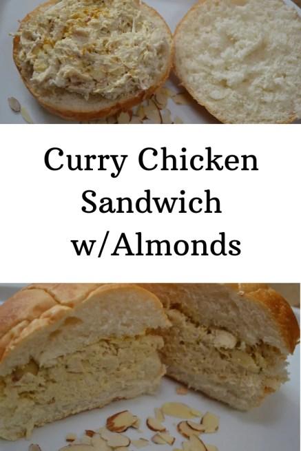 Recipe for Curry Chicken Sandwich w/Almonds