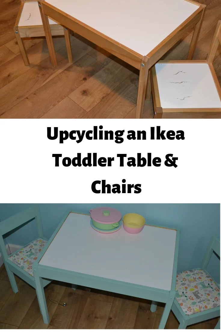 How to upcycle an Ikea Toddler Table & Chairs, it's very easy!