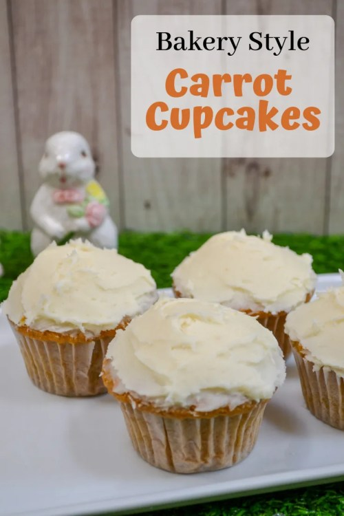Recipe for bakery style carrot cupcakes made at home