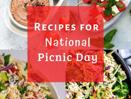Salads, Entrees, and Dessert recipes that are perfect for a picnic.