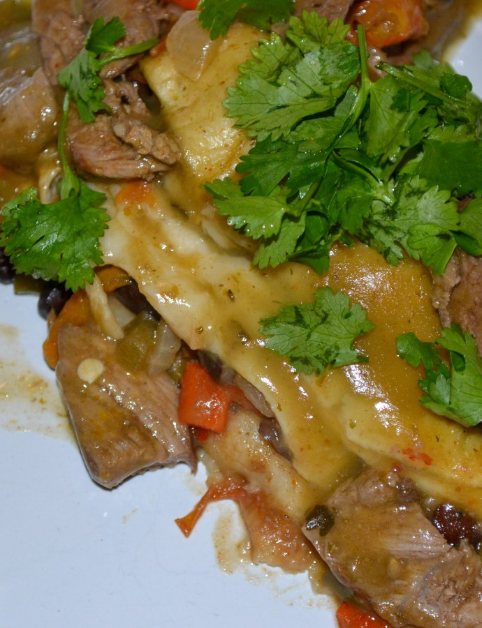 Loaded Steak Enchiladas