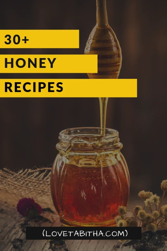 A list of over 30 Honey Recipes; desserts, dressings, entrees, and more.