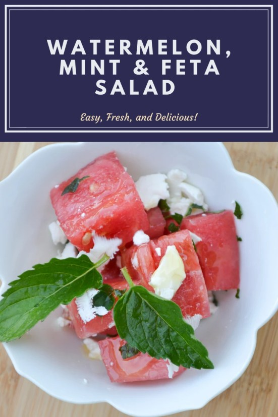 Delicious, easy and fresh Watermelon, Mint & Feta Salad