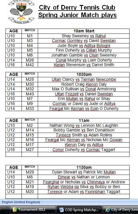 matchplay 2014 order of play one