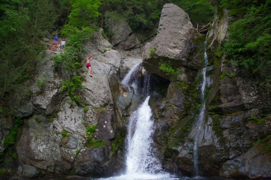 cliff jumping, backpacking, hiking