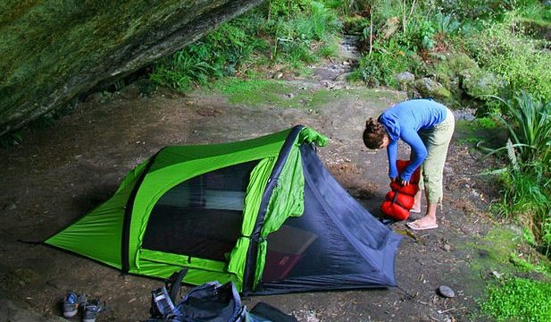 Tent and Sleeping Bag, gear for beginner backpackers