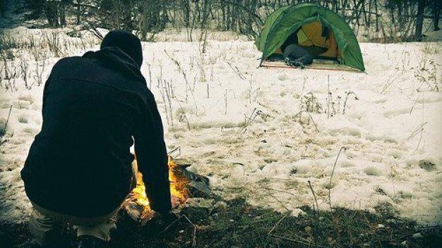 hiking, warm, snow