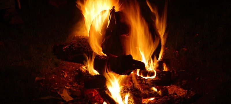 fire, winter, warm, hiking