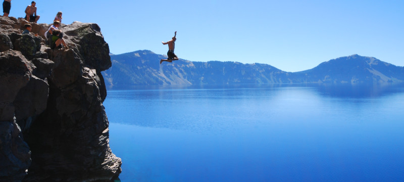 cliffs, jumping, extreme