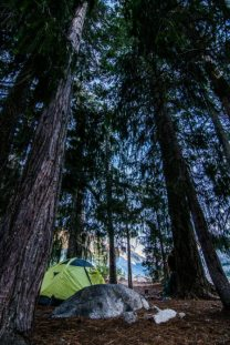 Our campsite in Canyon Creek, Trinity Alps