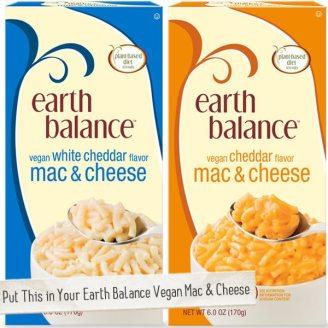 Mac & Cheese, Earth Balance, Vegan