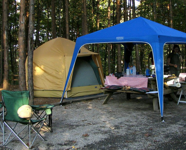 campsite living room, awning