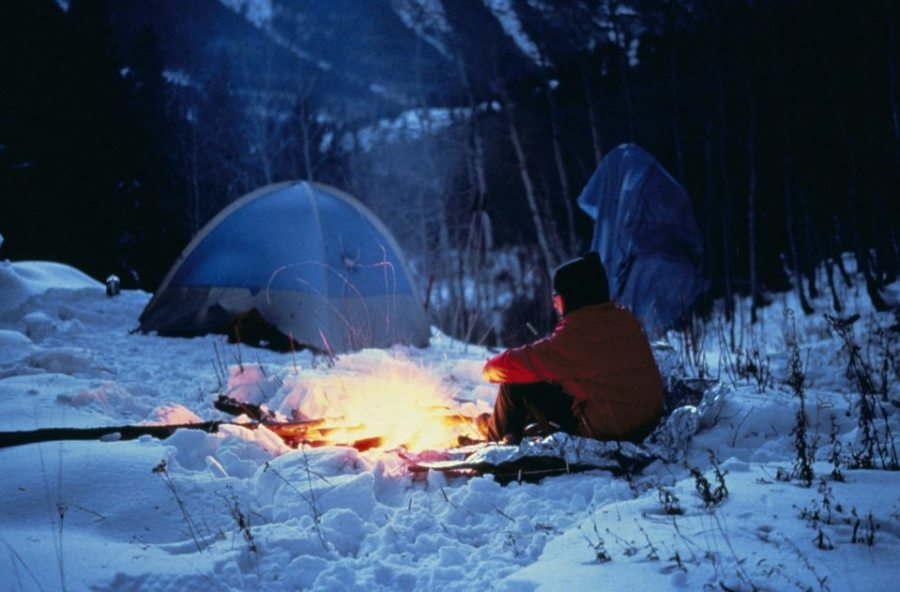 winter camping, setting up your winter campsite, camping