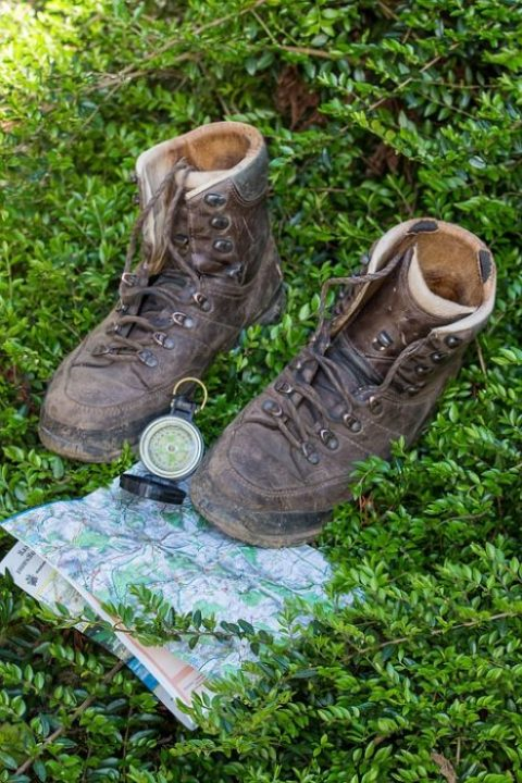 navigate a map in the backcountry, hiking, navigation, compass