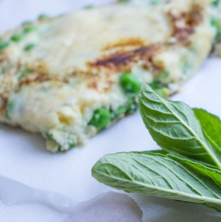 Pea, Mint, and Parmesan Omelette