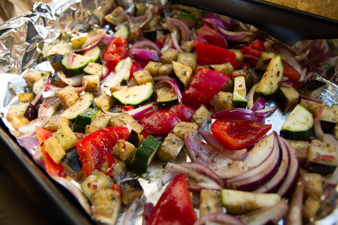 Roasted Meditteranean vegetables