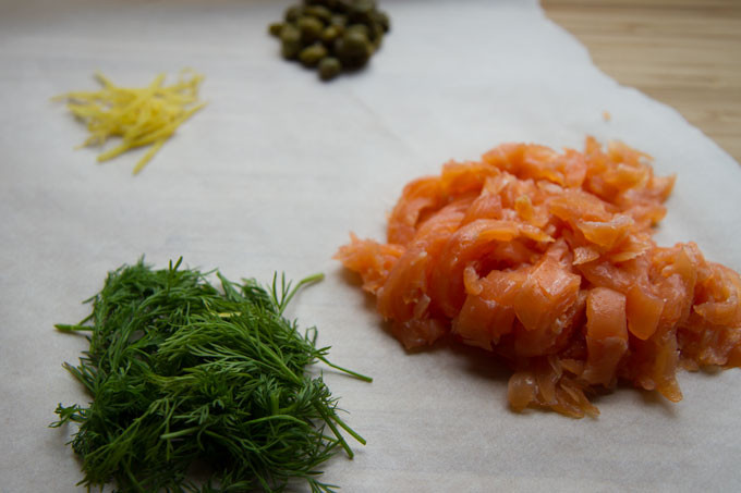 Fresh Dill, Lemon Zest, Capers and Smoked Salmon