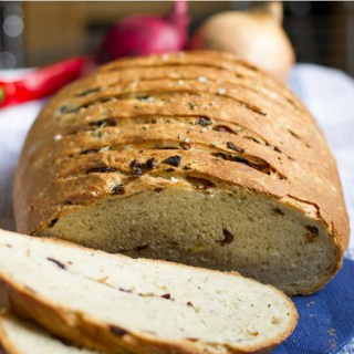 Onion, Red Chilli, and Black Olive Bread